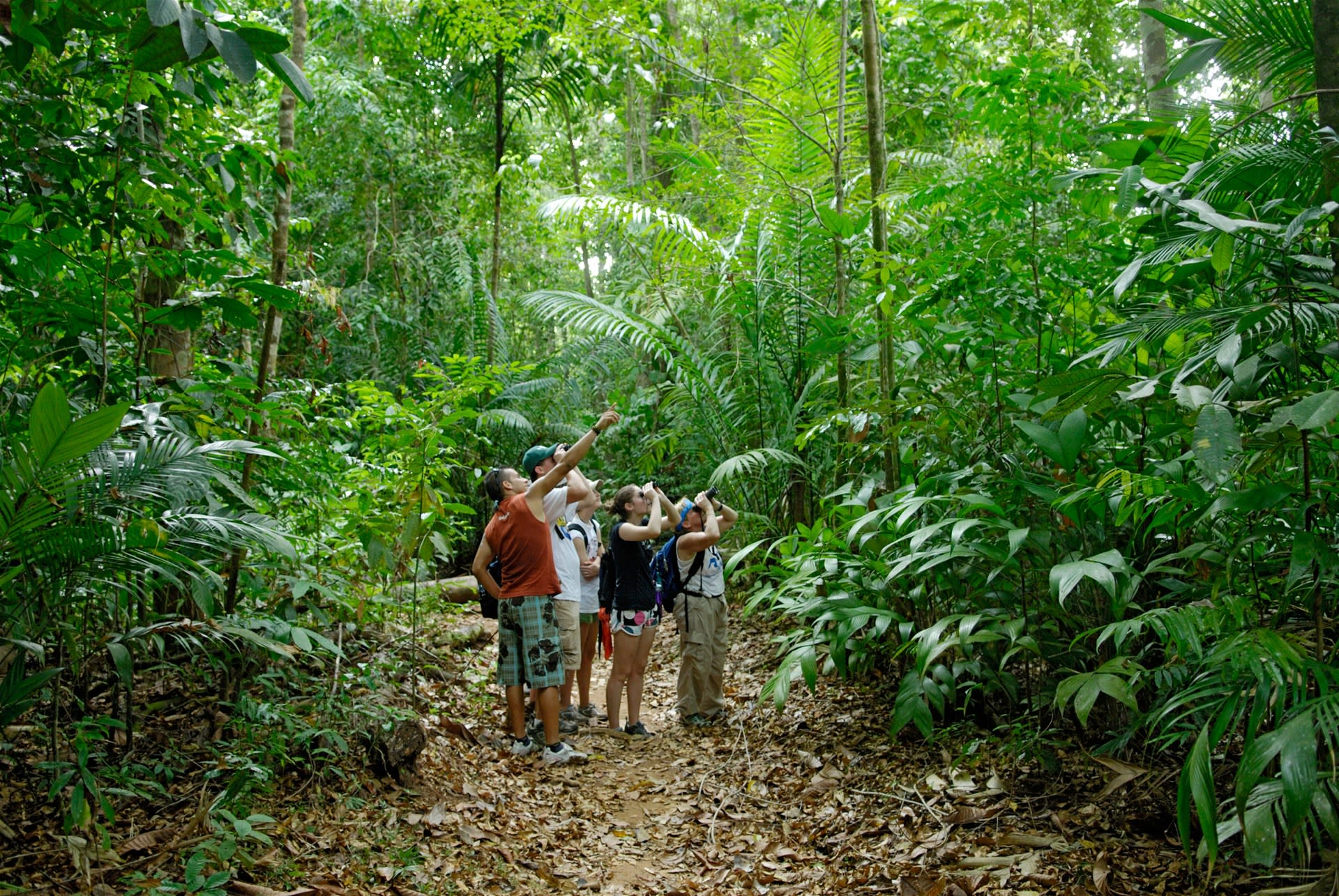 family in jungle in south america