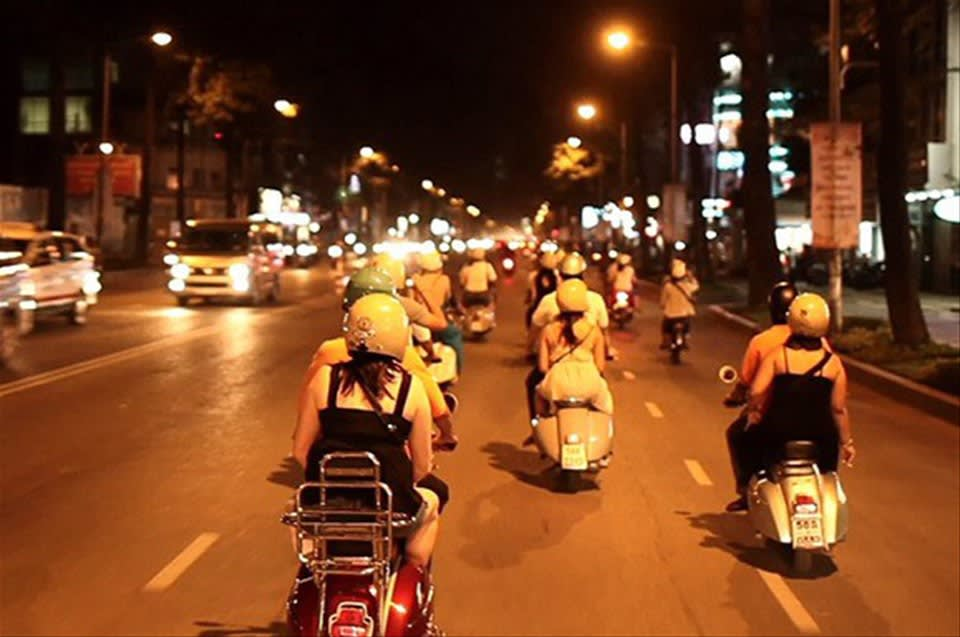 Evening Street Food Tour by Vintage Vespa