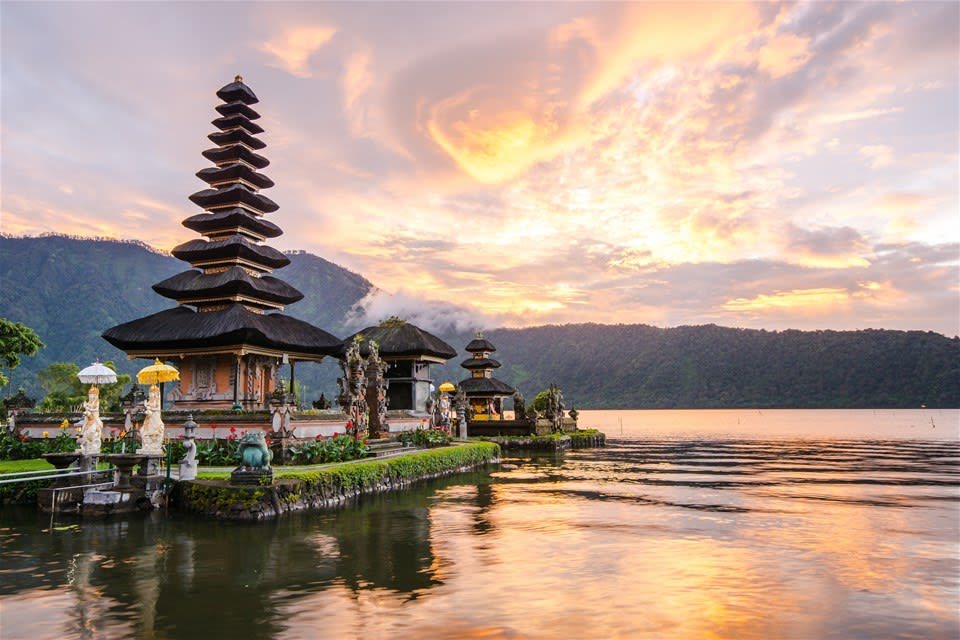 temple on the beach in bali