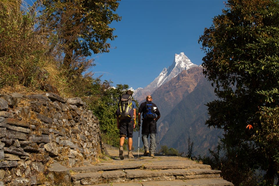 Overnight hike around Pokhara