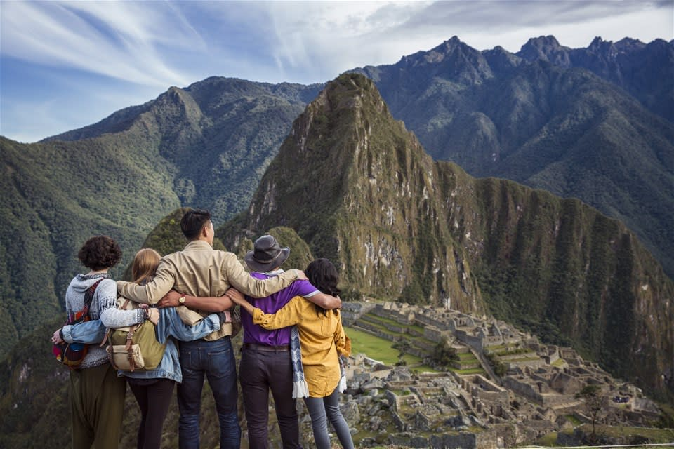 group at machu pichu peru