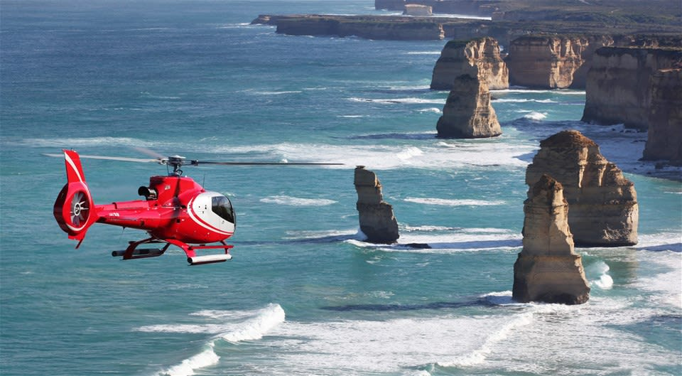 Twelve Apostles by Helicopter