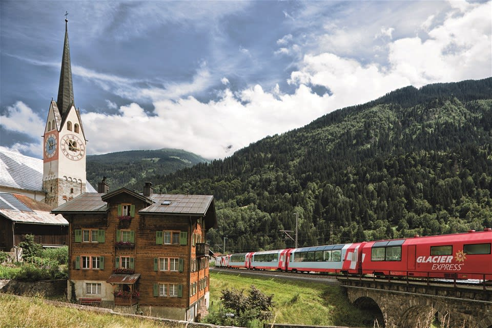Classic Glacier & Bernina Express from London