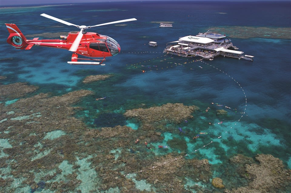 Outer Barrier Reef Cruise & Helicopter Flight