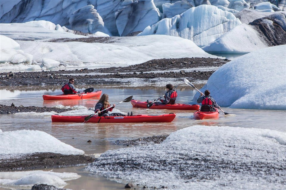 Kayaking by the Glacier