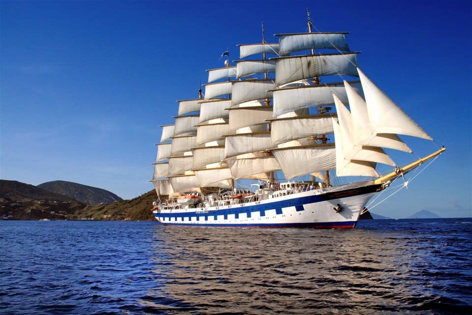 Tall Ship Sailing in the Grenadine Islands