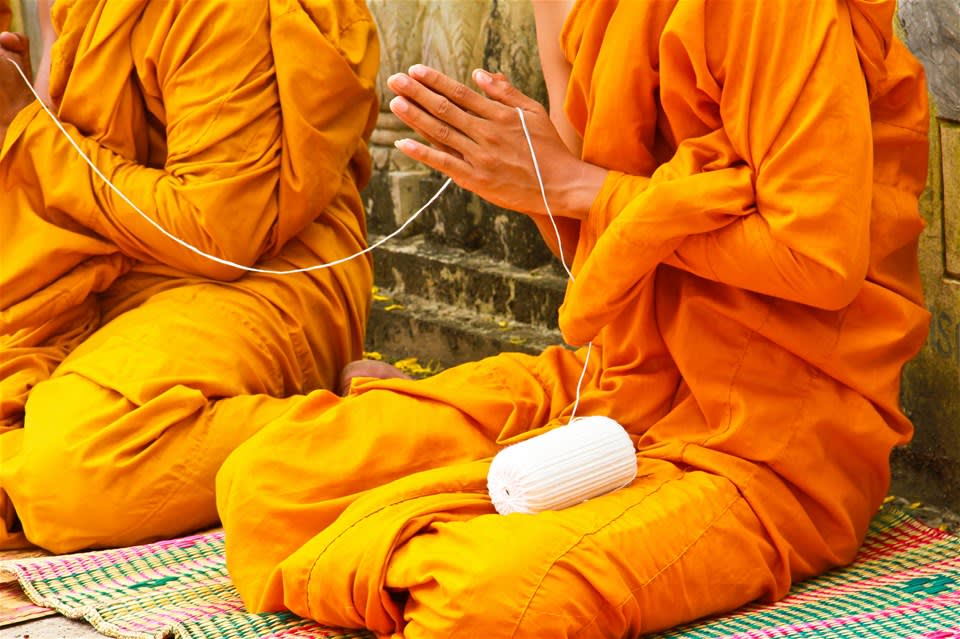 Baci Blessing Ceremony - Vientiane