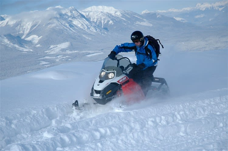 Kicking Horse Canyon Snowmobile Tour