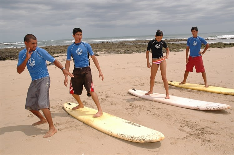 Surf Lesson on the Guanacaste Coast
